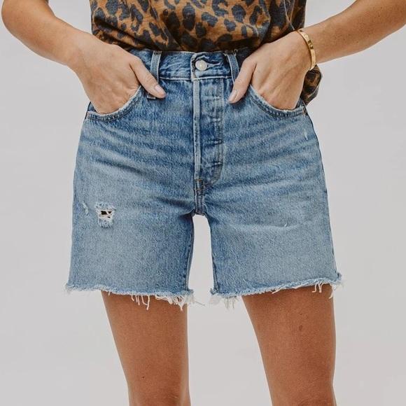 501 mid thigh shorts- luxor street